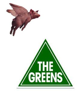 Green Pigs fly