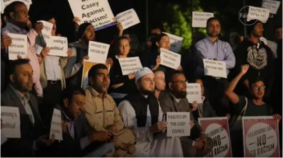 Islamic Protesters at Casey Council