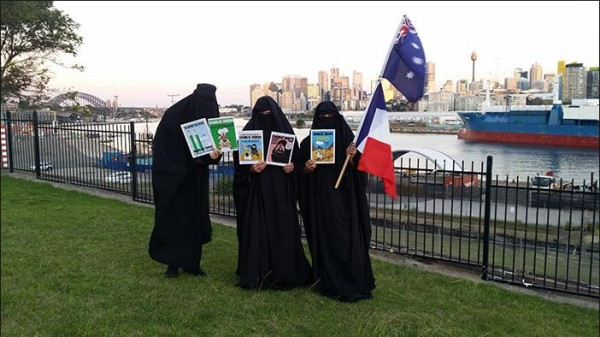 Party for Freedom anti-burqa protest in Sydney