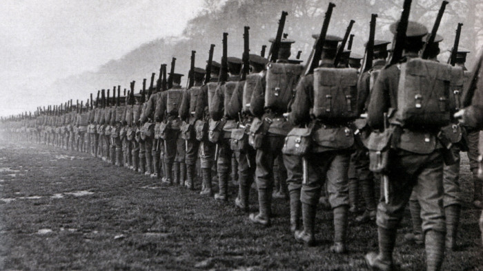 Australians marching off to the Great War