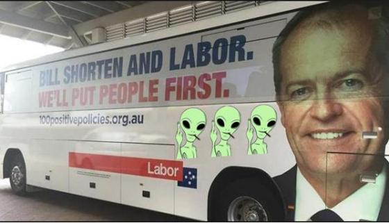 Bill Shorten Election Bus