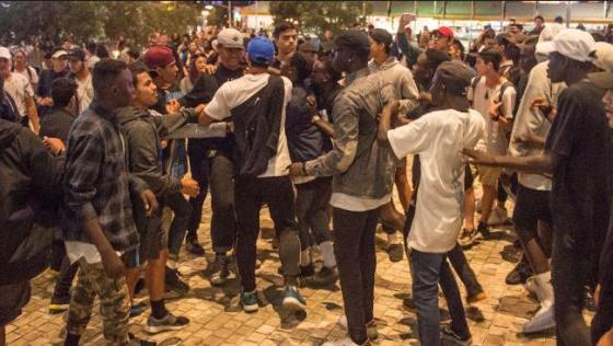 Nigger Gangs invade Melbourne Federation Square