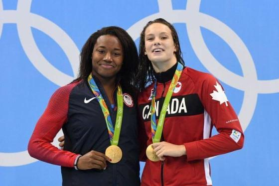 Penny Oleksiak and Simone Manuel, 2016 Olympics