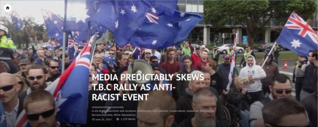 Media bias coverage called out by True Blue Crew reflecting on their Melbourne Rally