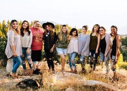 Australian Girls in a field