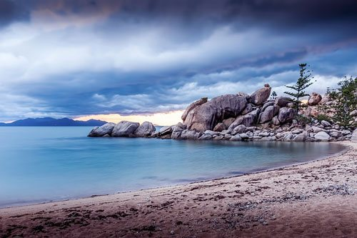 A beach on Magnetic Island in the early morning