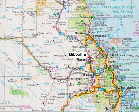 Map. Biboohra