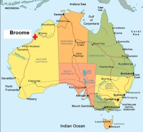 Map. Broome