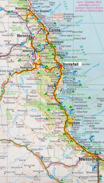 Map. Innisfail