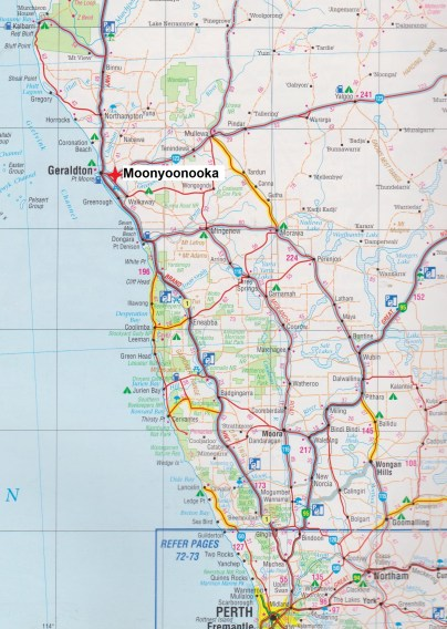 Map. Moonyoonooka