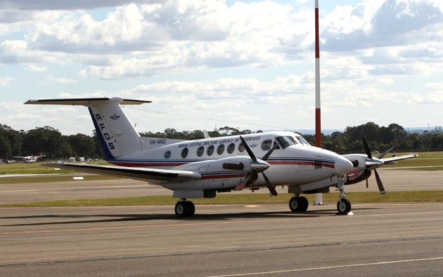 Hawker Pacific aircraft modification work has included RFDS King Air aeromedical conversions. (Paul Sadler)