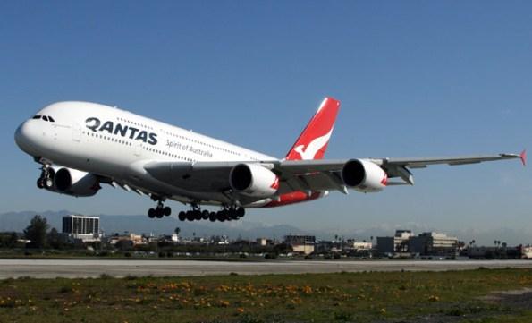 A file image of a Qantas A380 departing LAX. (Rob Finlayson)