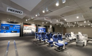 Boeing's 737 Interior Configuration Studio is based on its 787 Dreamliner Gallery. (Boeing)