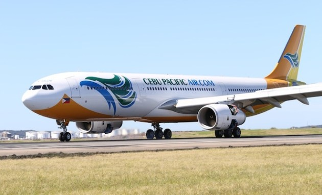 Cebu Pacific Airbus A330-300 arrives at Sydney Airport. (Lee Gatland)