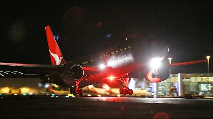 VH-OGM operates the last Qantas scheduled Boeing 767 service from Canberra. (Paul Sadler)