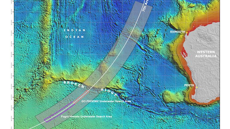 The search area for MH370. (ATSB)