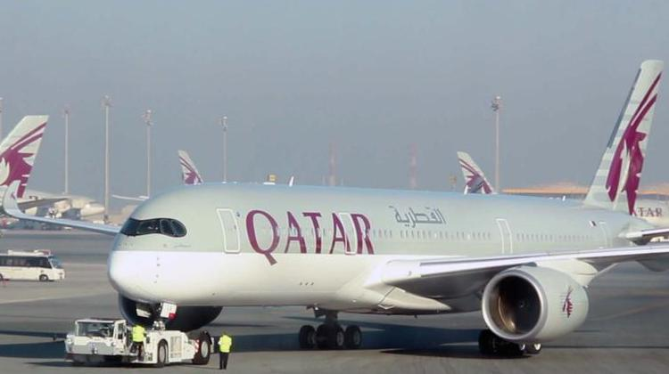 Qatar's Airbus A350-900 registration A7-ALA, pushes back for departure at Doha Airport. (Qatar Airways)