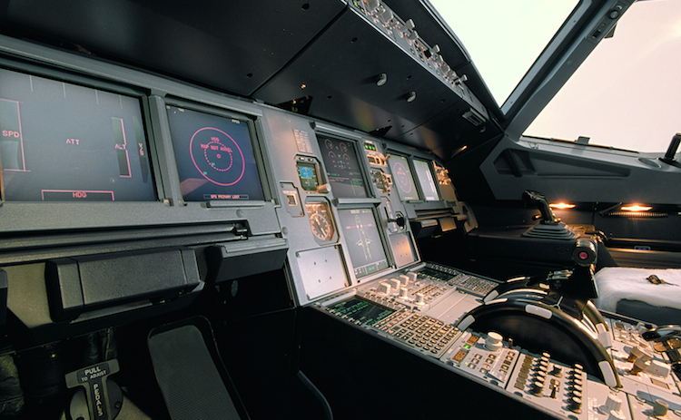 The cockpit of an Airbus A320 aircraft. (Airbus)