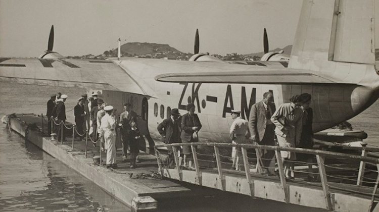 Tasman Empire Airways Ltd (TEAL) Short Brothers S.30 Empire-class flying boat ZK-AMA Aotearoa. (Air NZ)