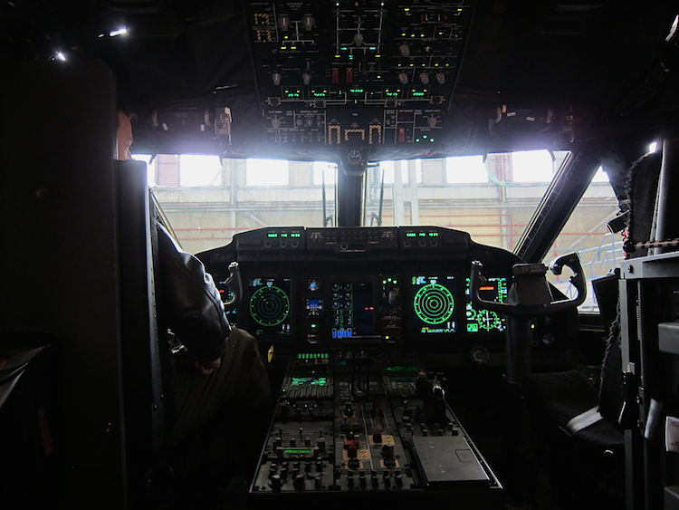 The flight deck of the RAAF's first C-27J A34-001.