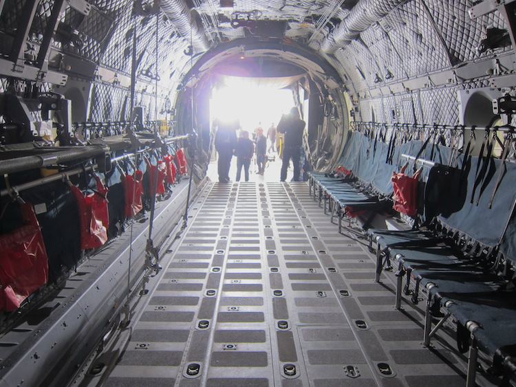 Inside the RAAF's first C-27J, A34-001.