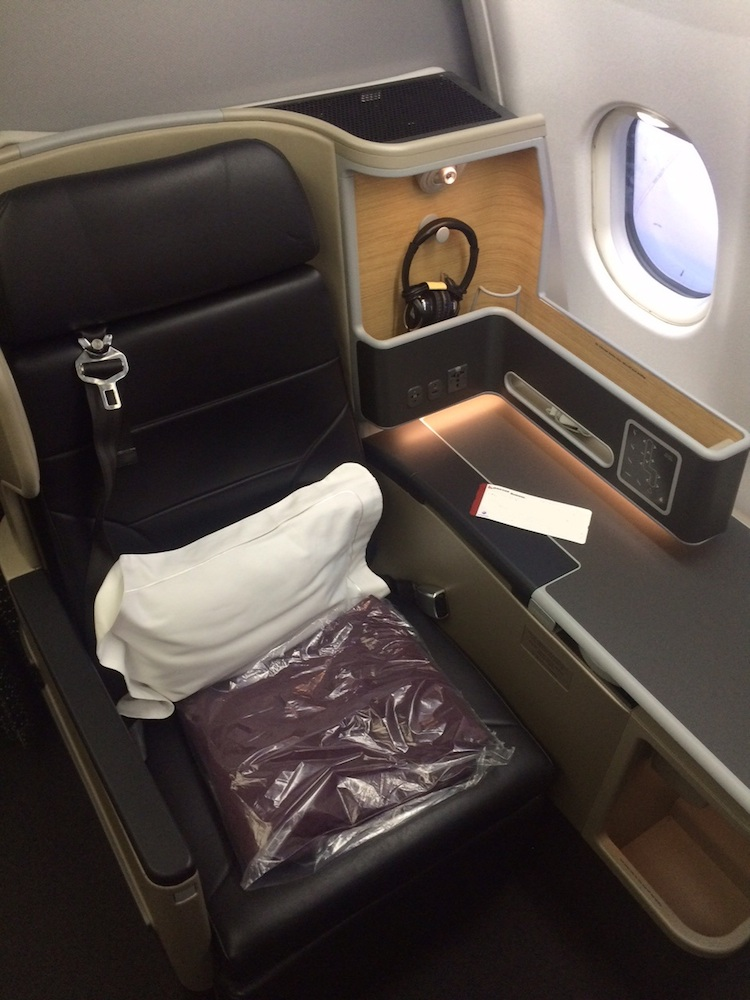 New business class seats are being progressively rolled out on Qantas's A330 fleet. (Chris Frame)