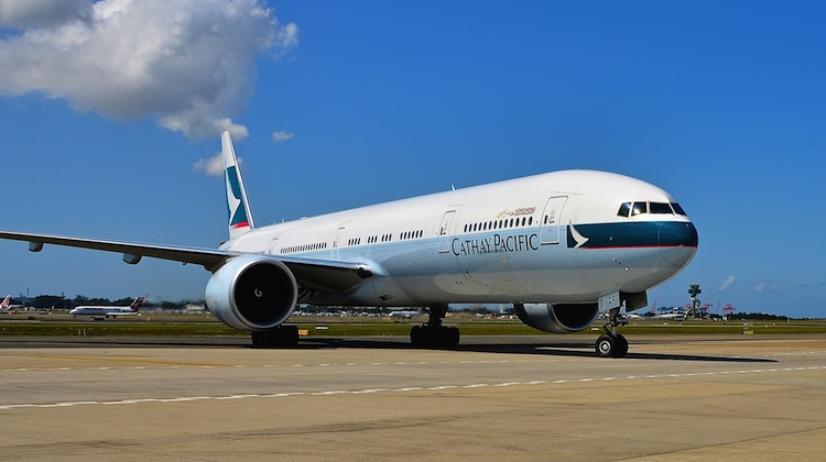 A Cathay Pacific Boeing 777-300ER B-KQR at Sydney Airport. (Cathay Pacific)