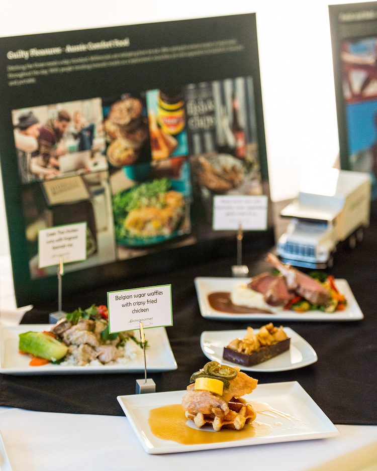 Food at the official opening of Gate Gourmet's Brisbane catering centre. (Gate Gourmet)