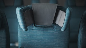 Cathay's six-way economy class headrest on the A350-900. (Cathay Pacific)
