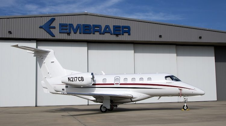 A January 2017 supplied image of the first Embraer Executive Jets Phenom 300 for Australia. (Embraer)