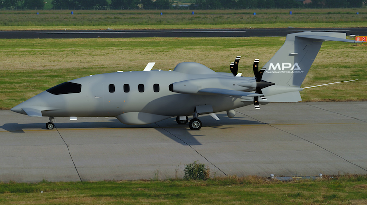 Piaggio Aerospace Multirole Patrol Aircraft (MPA) an evolution and development of P.180 Avanti aircraft for Special Mission applications. (Piaggio)