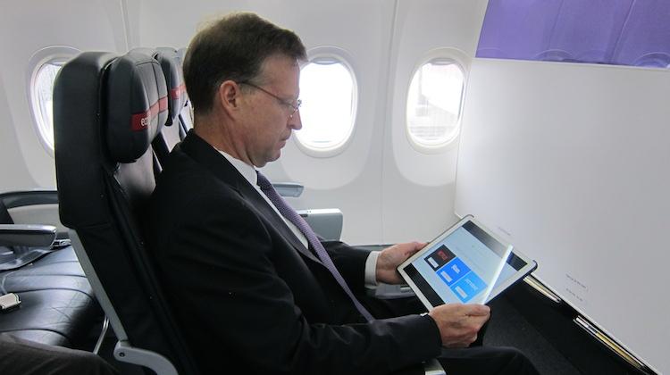 A file image of John Thomas on board a Virgin Australia Boeing 737-800. (Jordan Chong)