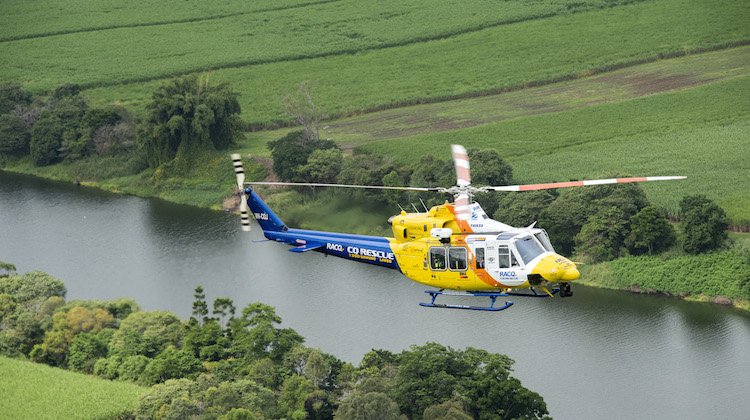A file image of an RACQ rescue helicopter. (Babcock)