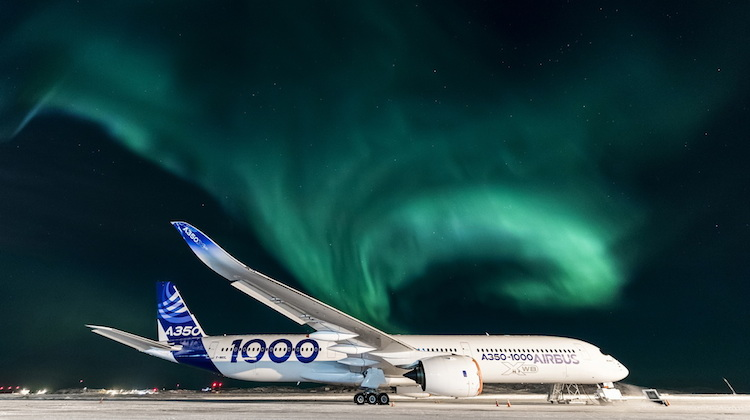 The flight test program for the A350-100 included the cold weather tests. (Airbus)