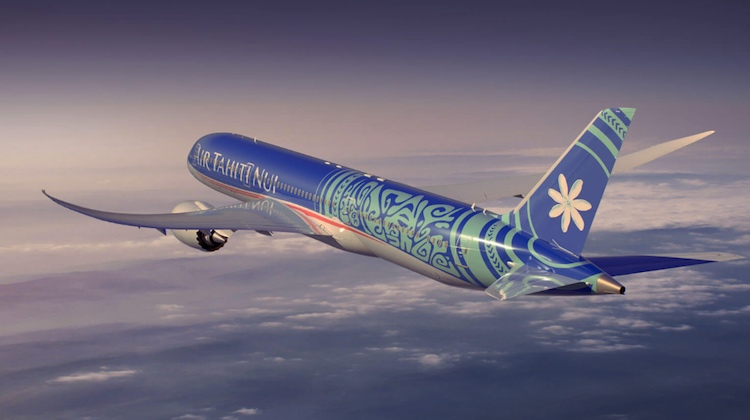 An artist's impression of the Boeing 787 in Air Tahiti Nui colours. (Air Tahiti Nui/Twitter)