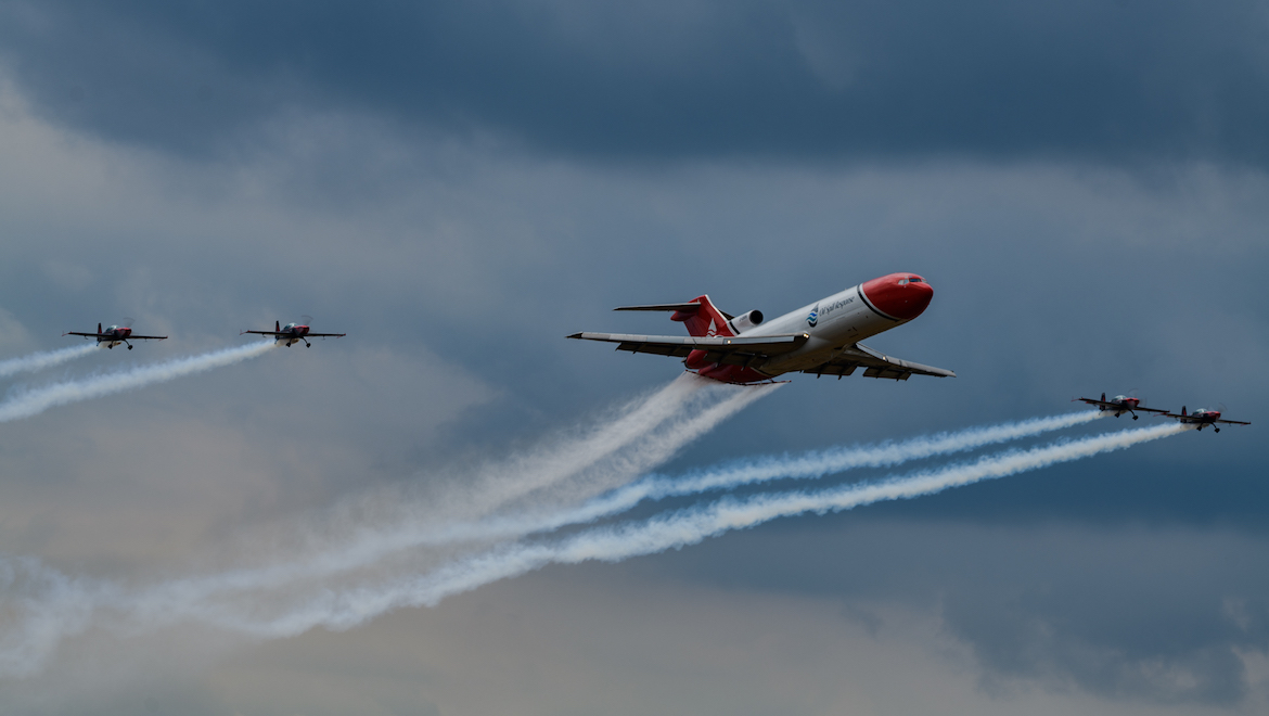 A specially-adapted Boeing 727 looked stunning. (Mark Jessop)