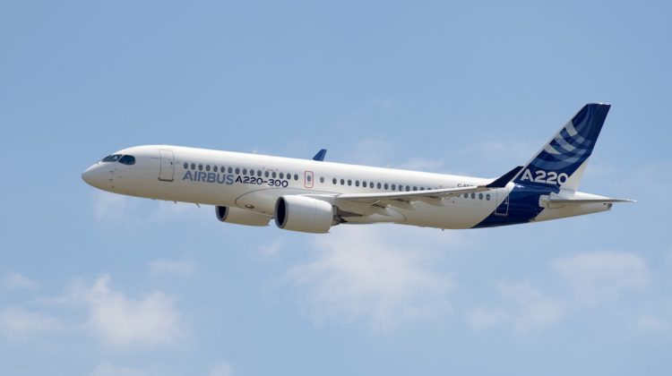 Bombardier's C Series will now be known as the Airbus A220. (Airbus)