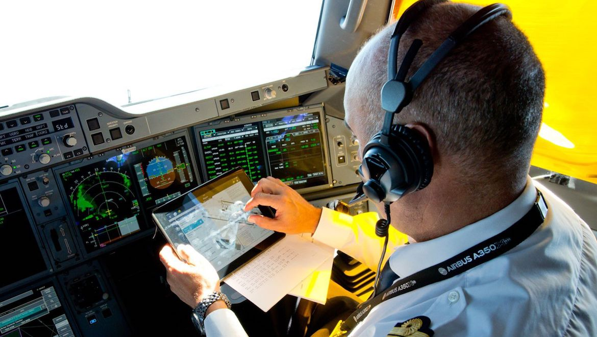 The Airbus Global Services Forecast says flight operations services such as pilot training and flight-planning solutions will account for a US$1.5 trillion cumulative spend over 20 years. (Airbus)