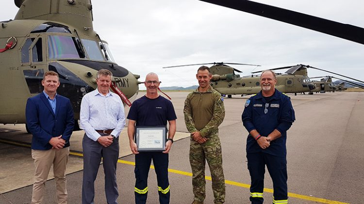 Greg Maiden has flown more than 4,000 hours in the CH-47 Chinook. (Boeing Defence Australia)