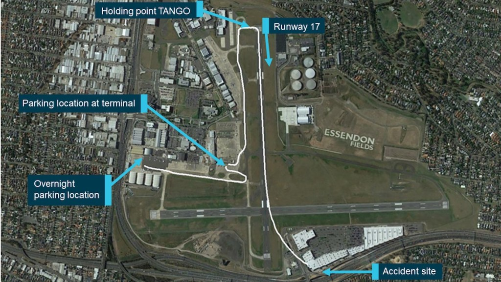 Aircraft taxi and flight track data from Airservices Australia ADS-B data. (ATSB)