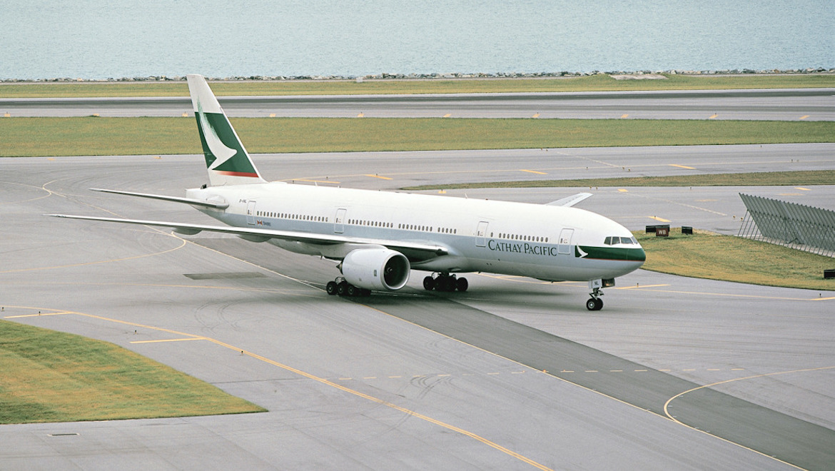 Cathay Pacific Boeing 777-200 B-HNL. (Cathay Pacific)