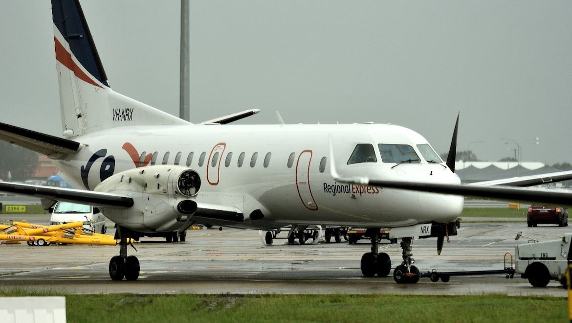 Regional Express Saab 340B VH-NRX after the incident. (ATSB)
