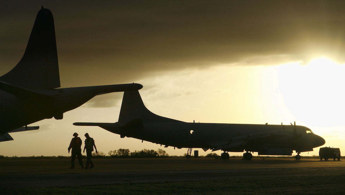 A file image of Royal Australian Air Force AP-3C Orions on the flight line at RAAF Base Learmonth. (Defence)