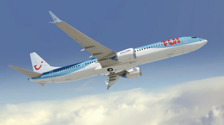 An artist's impression of a Boeing 737 MAX 10 in Tui livery. (Boeing)