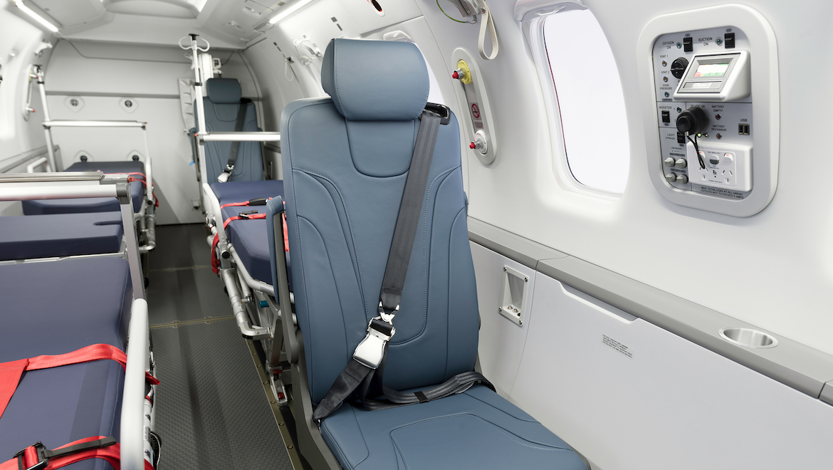 The cabin of the RFDS' first Pilatus PC-24. (Pilatus)
