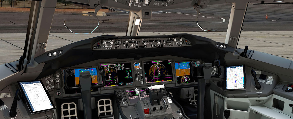 A look at the Boeing 777-X flight deck. (Boeing)