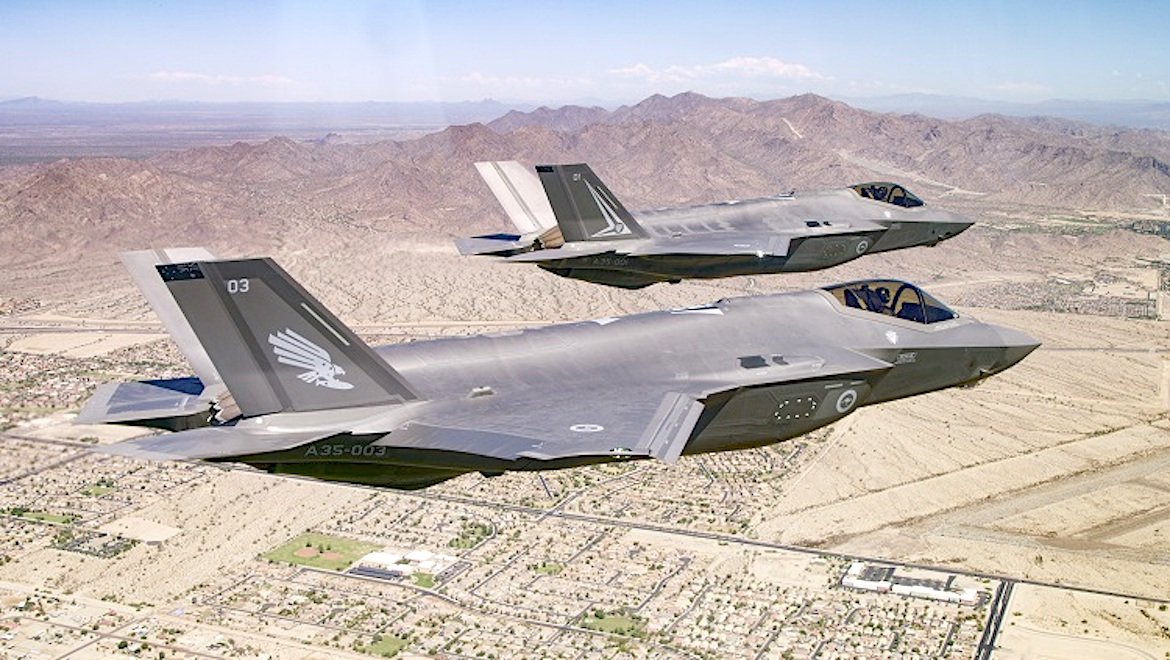 RAAF F-35As over Phoenix, Arizona. (Lockheed Martin)