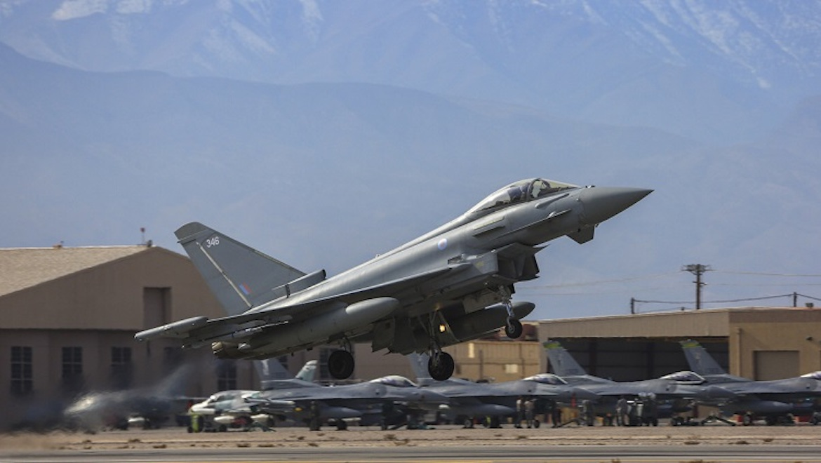 An RAF Eurofighter Typhoon at Nellis AFB. (Defence)