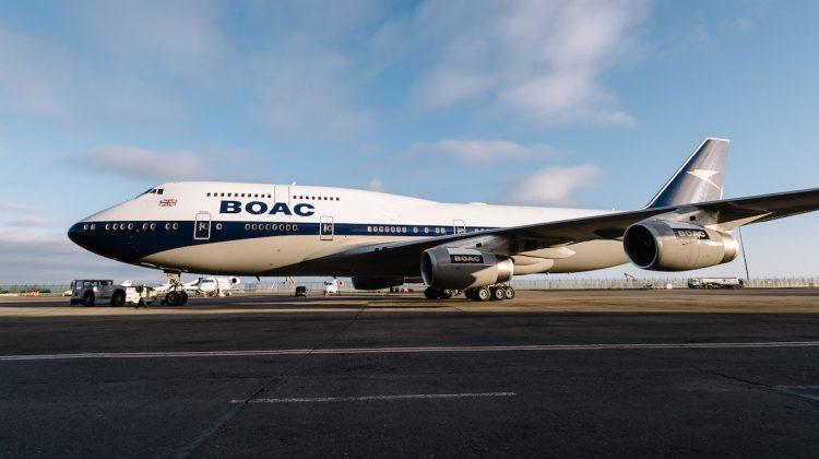 British Airways has painted one of its Boeing 747-400s in a BOAC livery to celebrate its centenary. (British Airways/Stuart Bailey)