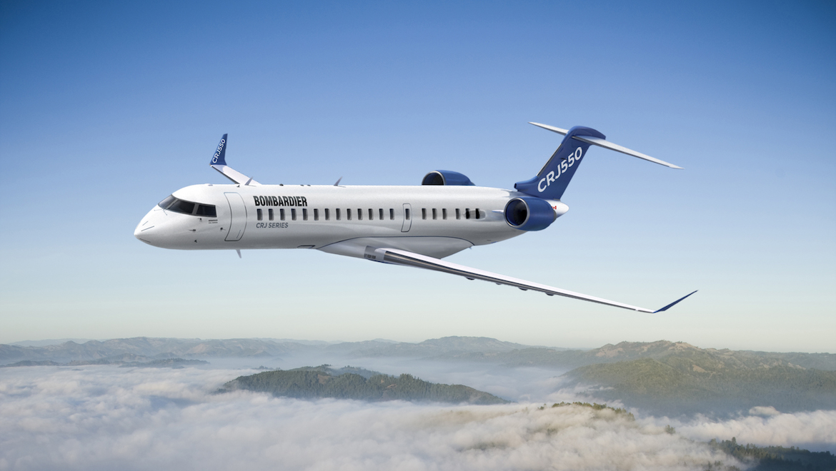 An artist's impression of the Bombardier CRJ550. (Bombardier)